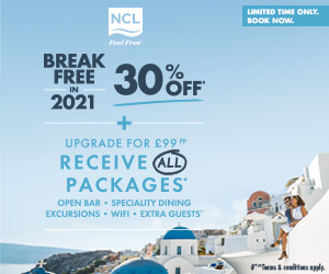 30% Off selected NCL cruises