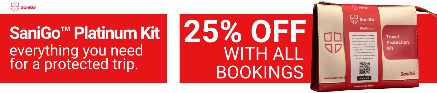 SaniGo Platinum Travel Kit 25% Off with all bookings